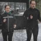 Snelheid bevorderende hardloopkleding in de kou