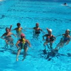 Aqua fitness, training in water